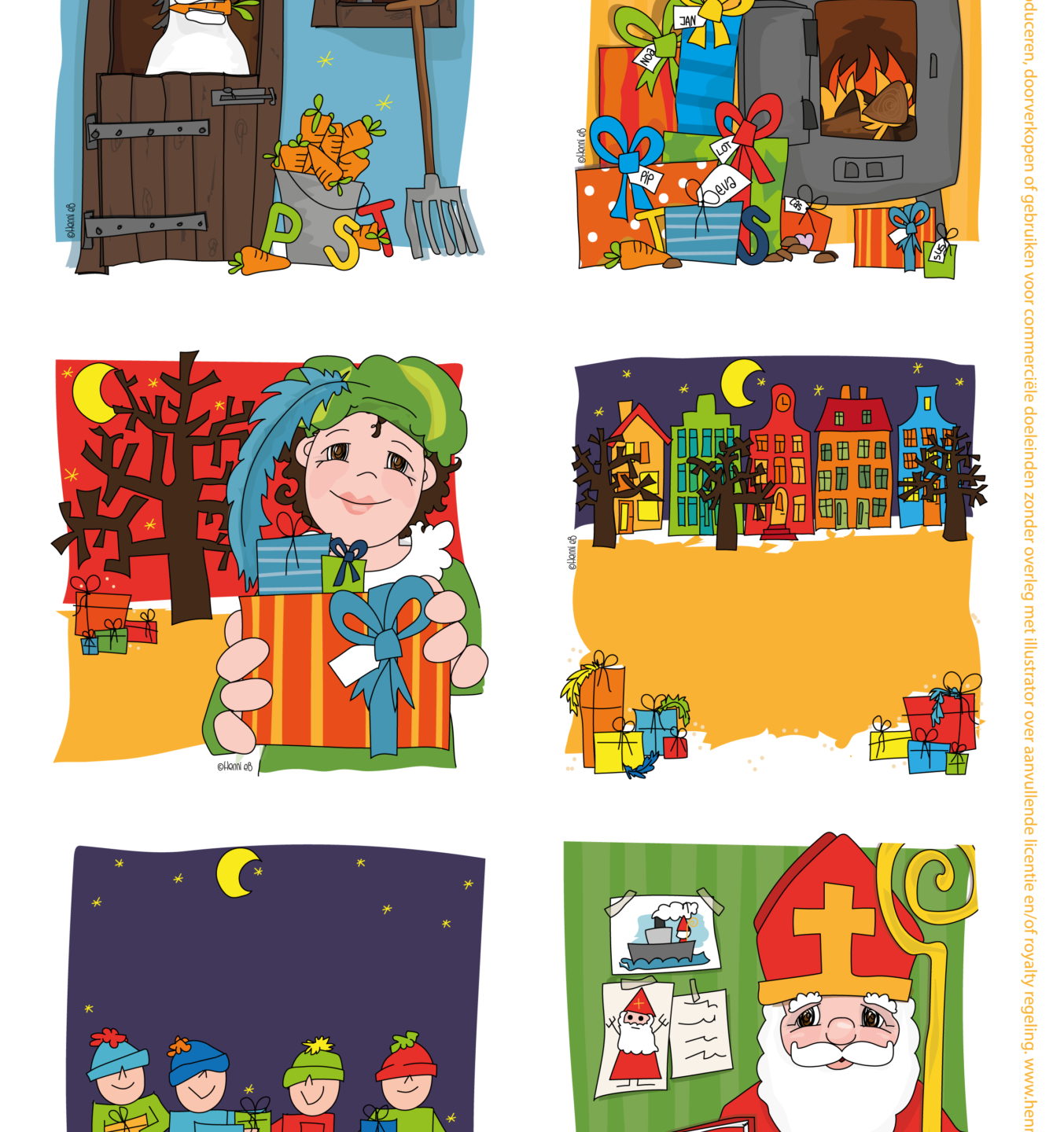 Sinterklaas illustraties